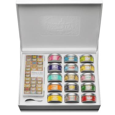 Подарочный набор Коллекция из 15-ти видов чая с бумажными фильтрами 365г, Kusmi Tea - 50919