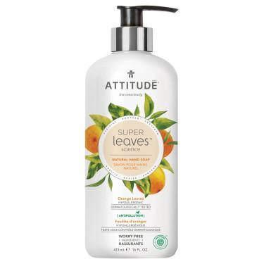 Жидкое мыло для рук Super Leaves Апельсин 473мл, Attitude - 43030