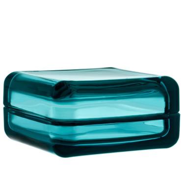 Коробка для хранения стеклянная голубая 10,8х10,8см Vitriini, Iittala