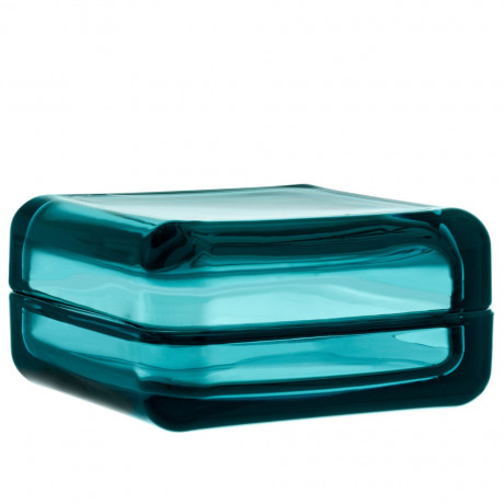 Коробка для хранения стеклянная голубая 10,8х10,8см Vitriini, Iittala - 45631