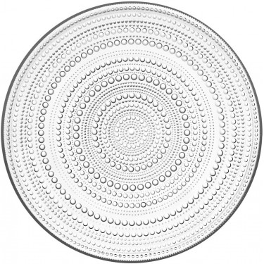 Тарелка стеклянная прозрачная 31,5см Kastehelmi, Iittala