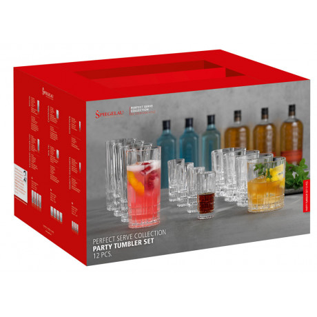 Набор бокалов для вечеринки (12 шт) 4х55мл, 4х368мл, 4х350мл Perfect Serve Collection, Spiegelau - 44746