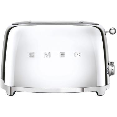Тостер на 2 тоста серебристый, SMEG - 85706