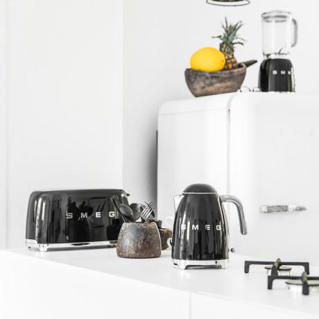 Тостер на 2 тоста черный, SMEG - 81636