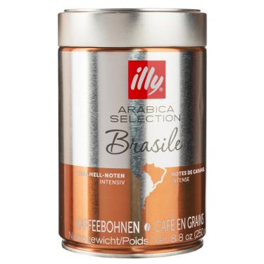 Кофе Арабика Бразилия 100% в зернах 250г, Illy