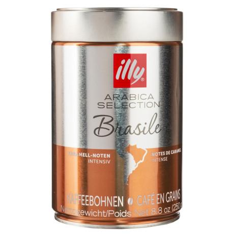 Кофе Арабика Бразилия 100% в зернах 250г, Illy - 70066