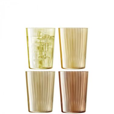 Набор тамблеров янтарного цвета 560мл (4шт в уп) Gems, LSA international