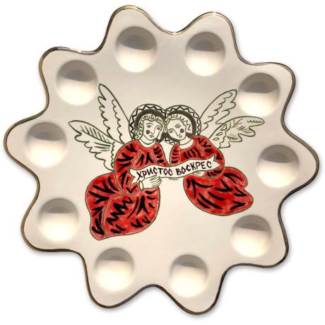 Пасхальная тарелка на ножке 30 см, Gunia project - 86247