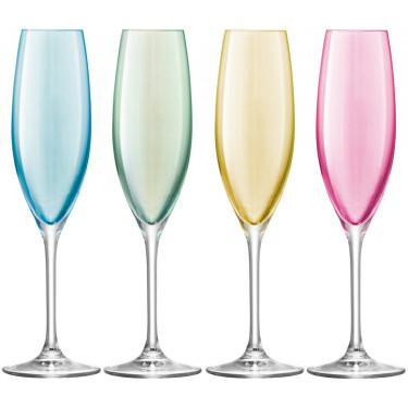 Набор бокалов для шампанского пастель 225мл (4шт в уп) Polka, LSA international - 51356