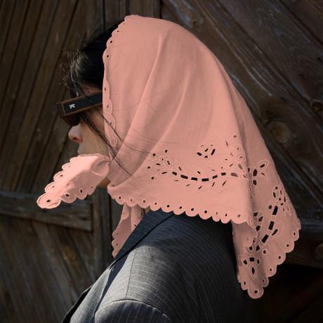 Платок вытынанка розовый, Gunia project - 54301