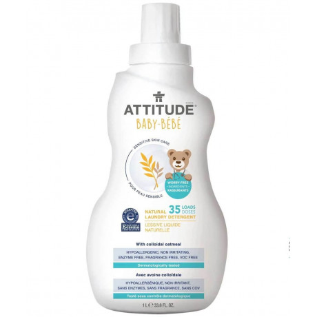 Средство для стирки детских вещей Sensitive Skin 1л, Attitude - 51307