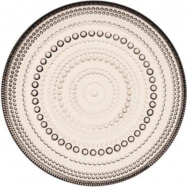 Тарелка стеклянная коричневая 17см Kastehelmi, iittala