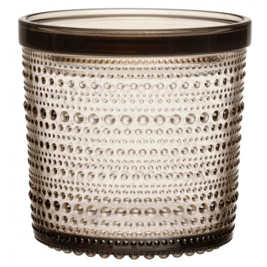 Емкость для хранения стеклянная коричневая 11,6х11,4см Kastehelmi, Iittala