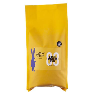 Кофе зерновой свежеобжаренный под эспрессо Бразилия Мистура Дойс 1кг, Yellow Place - 54671