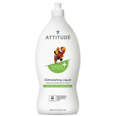 """Средство для мытья посуды """"Зеленое яблоко и базилик"""" 700мл, Attitude"""