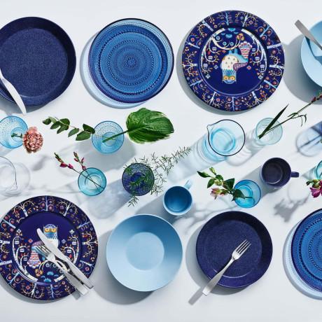 Тарелка синяя с рисунком 22см Taika, iittala - 26111