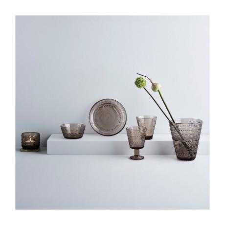 Емкость для хранения стеклянная коричневая 11,6х11,4см Kastehelmi, Iittala - 50908