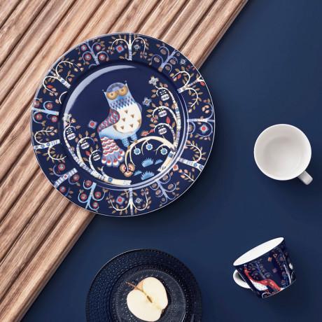 Блюдце синее с рисунком 15см Taika - 19299