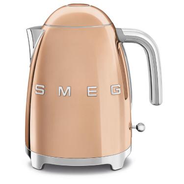 Чайник электрический цвет розовое золото стиль 50х, SMEG