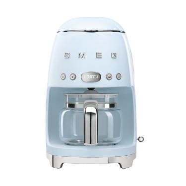 Кофеварка капельная пастельно-голубая стиль 50х, SMEG - 53371