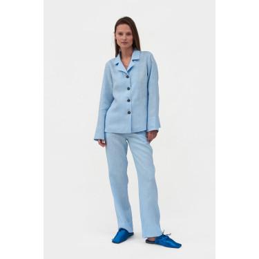 Пижама льняная с брюками Azure Blue, Sleeper - 93681