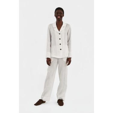 Пижама льняная с брюками Paper White, Sleeper - 93679