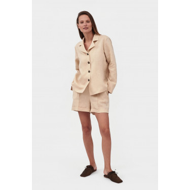 Пижама льняная с шортами Cream, Sleeper - 93684