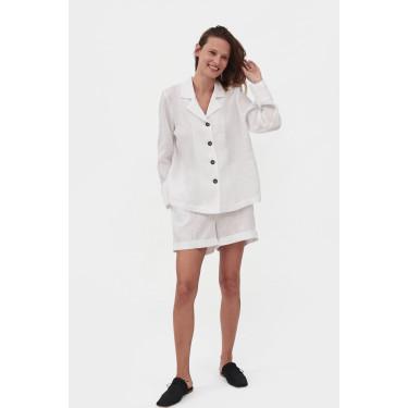 Пижама льняная с шортами Paper White, Sleeper - 93680