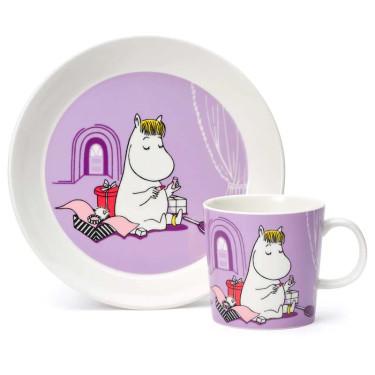 Набор кружка и тарелка Фрекен Снорк Moomin, Arabia