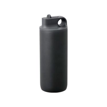Бутылка для воды черная 600мл Active, Kinto