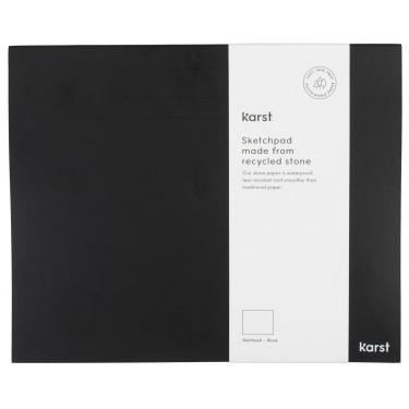 Блокнот для эскизов черный Black 250мм х 205мм, Karst