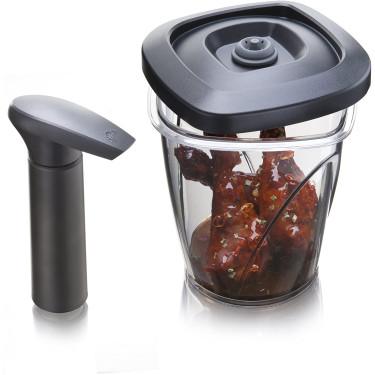 Вакуумный контейнер для мгновенного маринования с помпой 1,3л, Tomorrow's Kitchen - 94342