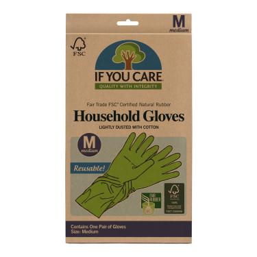 Перчатки латексные средние зеленые, If You Care - 37048