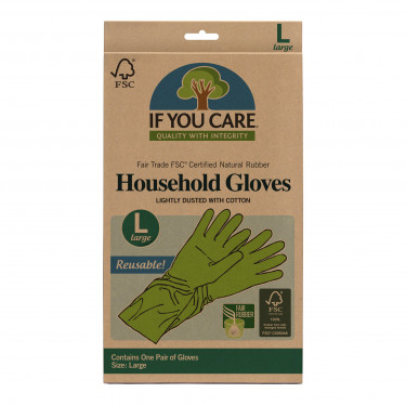 Перчатки латексные большие зеленые, If You Care - 37050