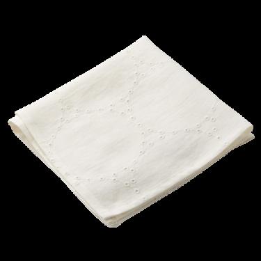 Салфетка с вышивкой белая Venice, Charvet Editions
