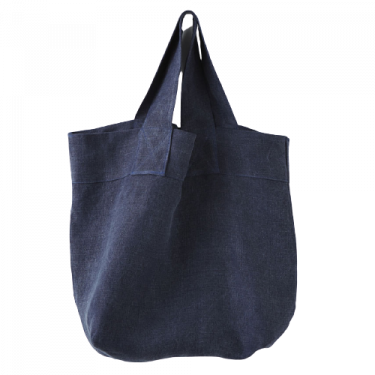 Сумка льняная темно-синяя Fourre, Charvet Editions