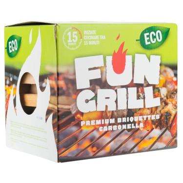 Уголь в брикетах комплект с роспалом, Fun grill - 96224