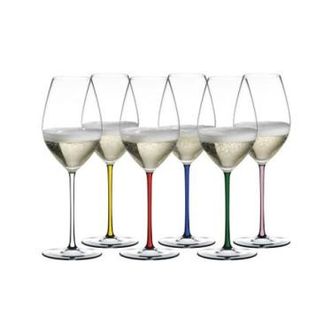 Набор бокалов для игристого вина Champagne 445мл Fatto a Mano (6шт в уп), Riedel