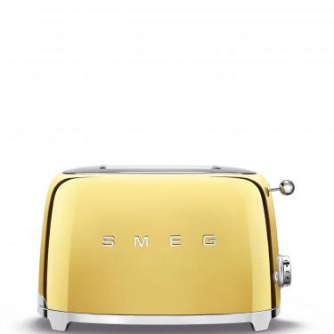 Тостер электрический на 2 тоста стиль 50х золотого цвета, SMEG - 96410