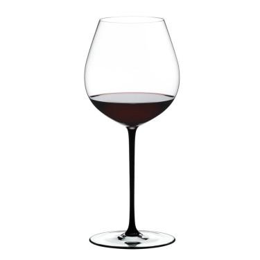 Бокал для красного вина с черной ножкой Pinot Noir 705мл Fatto a Mano, Riedel - Q0706
