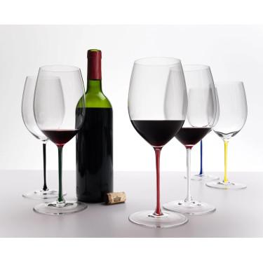 Бокал для красного вина Cabernet с красной ножкой 625мл Fatto a Mano, Riedel - Q0708