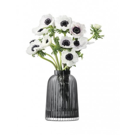 Ваза для квітів сірого кольору 26см Pleat, LSA international - 48960