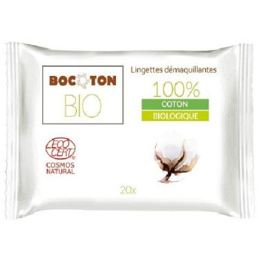 Влажные салфетки для снятия макияжа органические 20шт, Bocoton - Q2068