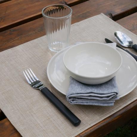 Салфетка столовая льняная черная 45х35см Modena Enduit, Charvet Editions - 44382
