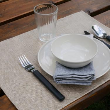 Салфетка столовая льняная коричневая 45х35см Modena Enduit, Charvet Editions - 47427