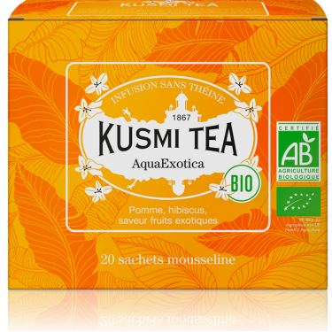 """Чай травяной """"Аква Экзотика"""" пакетированный, Kusmi Tea - Q0792"""