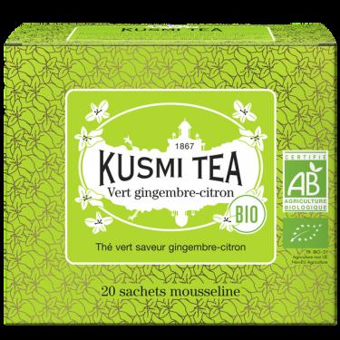 """Чай зеленый """"Имбирь и Лимон"""" пакетированный, Kusmi Tea"""