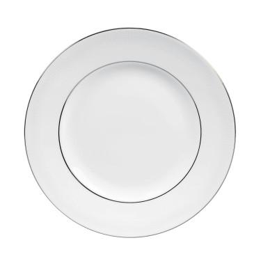 Тарелка 20см белая Vera Wang Blanc Sur Blanc, Wedgwood - 94660