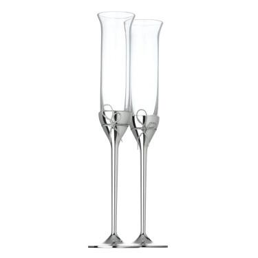 """Набор бокалов для игристого вина """"Love Knots"""" Vera Wang (2шт в уп), Wedgwood - 96448"""