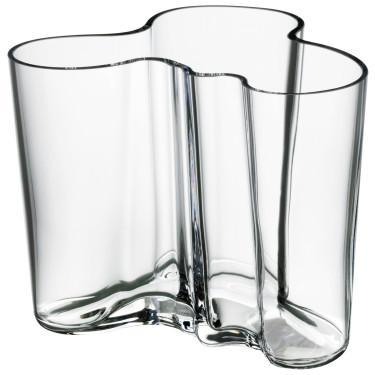 Ваза стеклянная прозрачная 12см Aalto - 15045